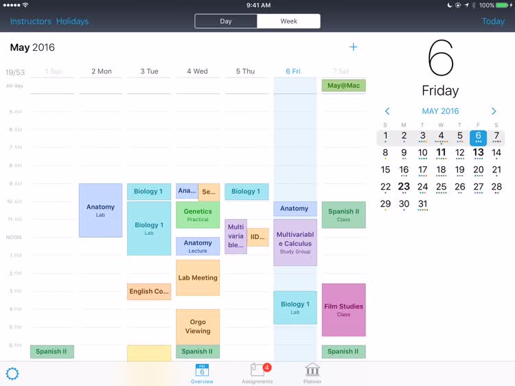 Keep tabs on your entire schedule