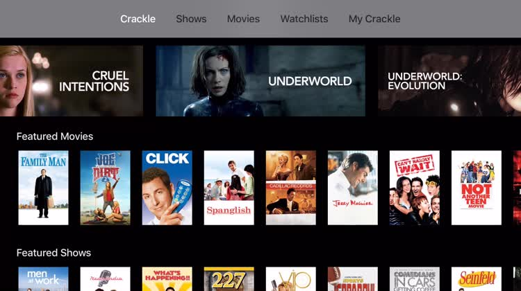 Browse movies and TV shows