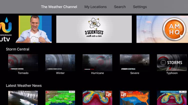 weather app apple tv