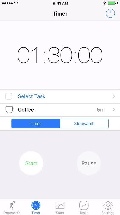 Set the timer