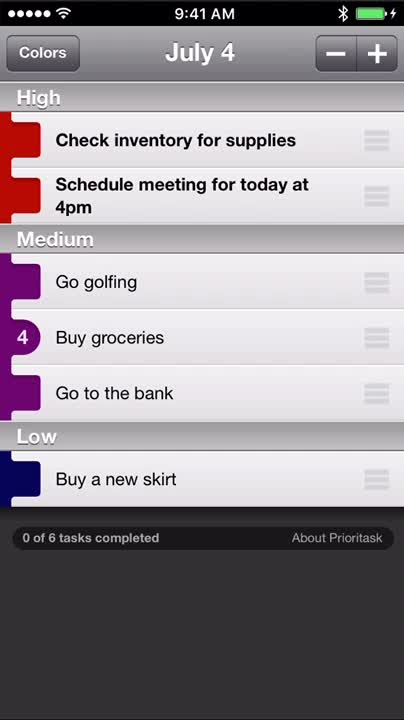 Organize your daily tasks