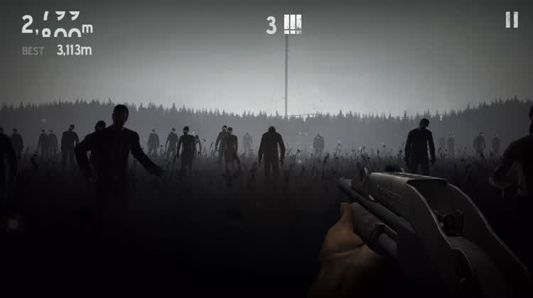 Slide To Avoid Tons Of Zombies