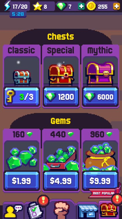 Loot and upgrades