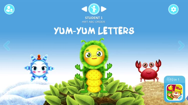 Learn to write letters with funny characters