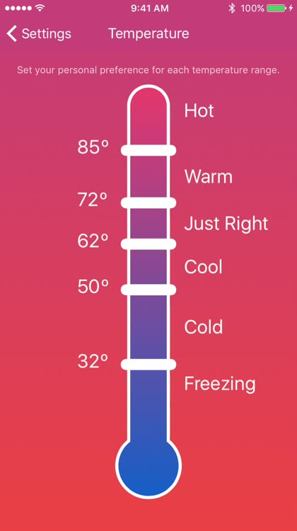 Pick your temperature range