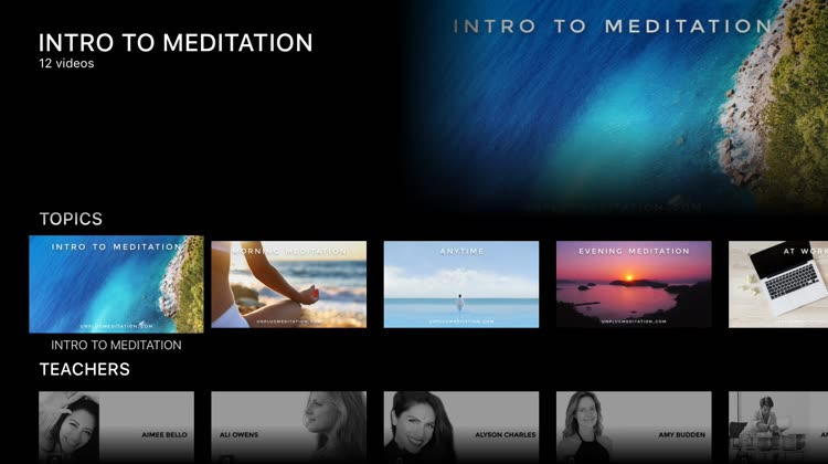 Unplug Meditation sessions