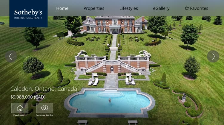Sotheby's Real Estate Navigation