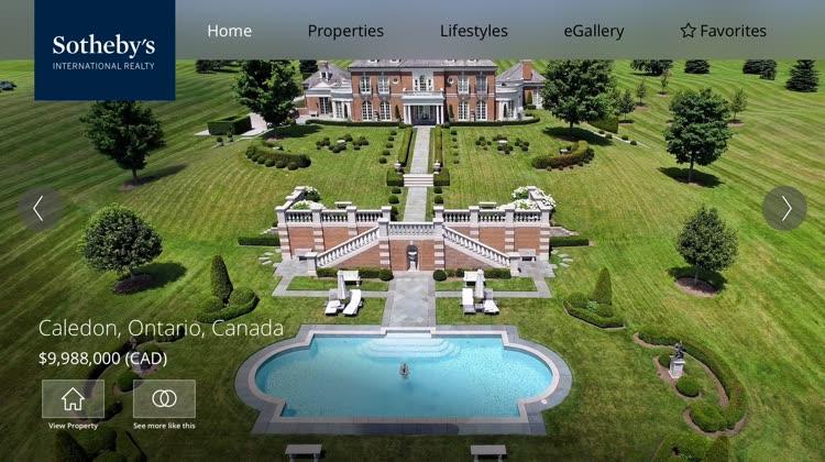 Sotheby's Real Estate Navigation