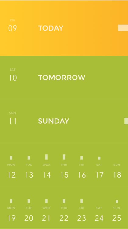 Peek Calendar Main Screen