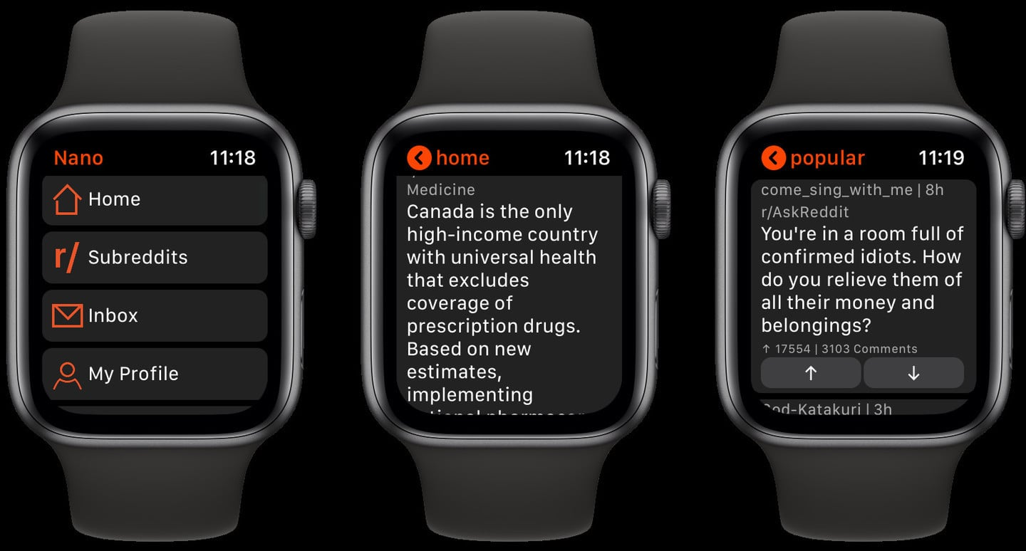 Nano for Reddit Brings the Popular Network to Apple Watch