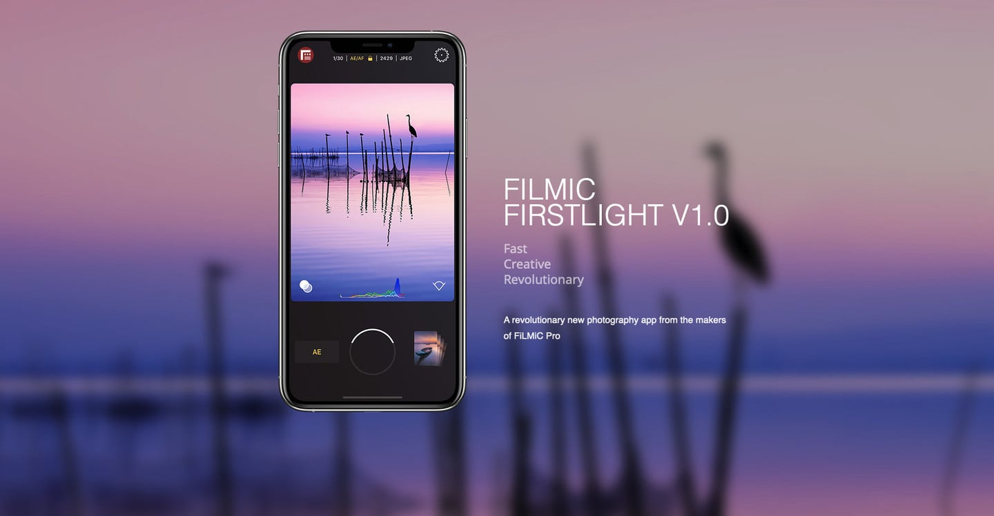 Filmic Jumps Into Still Photography With the New Firstlight App