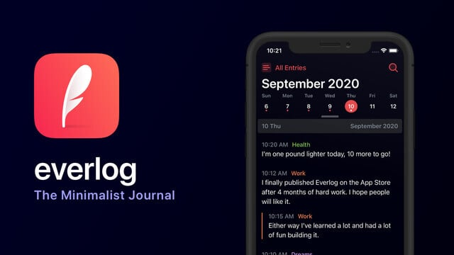 Everlog is a Minimalist Journaling App With a Unique Concept