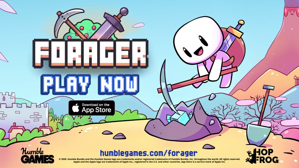 Farm, Craft and Explore in the Open-World Game Forager