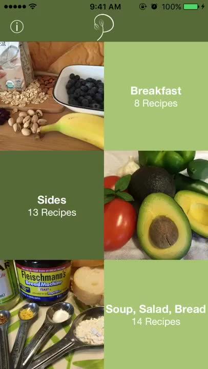 Vegan recipes at your fingertips