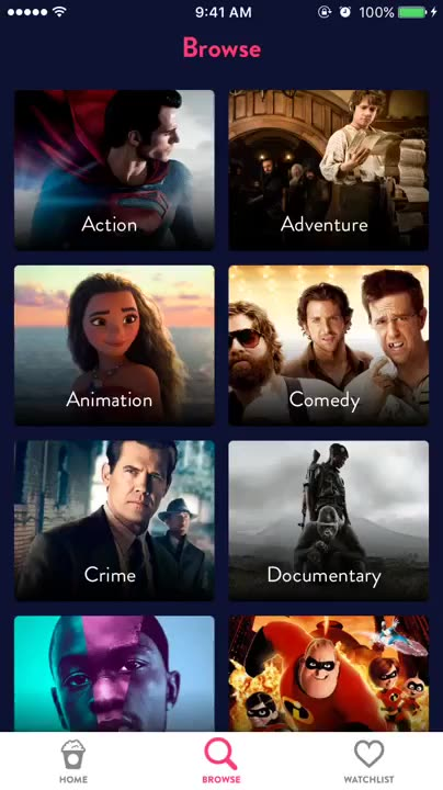 Browse movies by genre