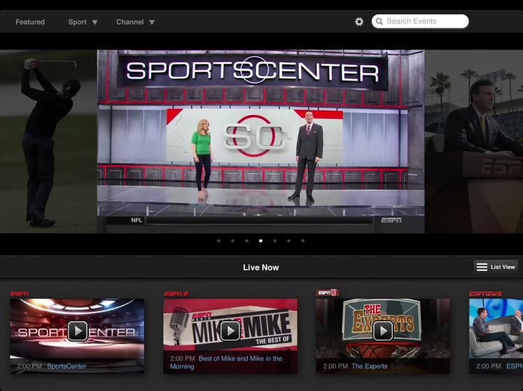 Stay connected to live sports and shows from ESPN