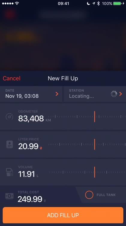 Enter fill up details easily