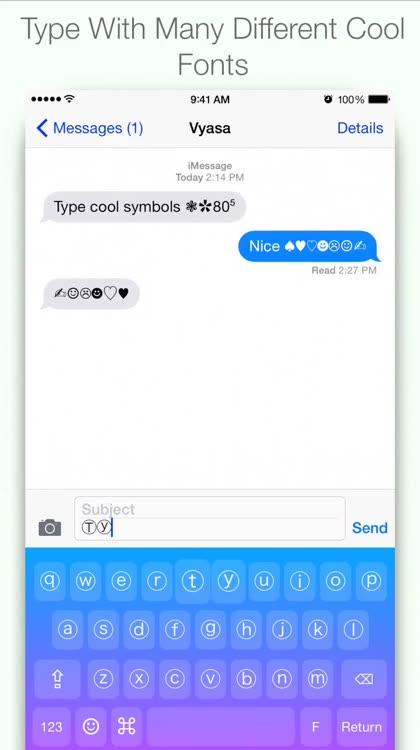 Cool Symbols Keyboard By Vyasa
