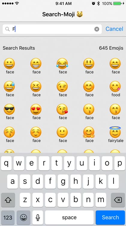 search moji helps you quickly find and share emoji as well as save complex emoji phrases for easy access next time