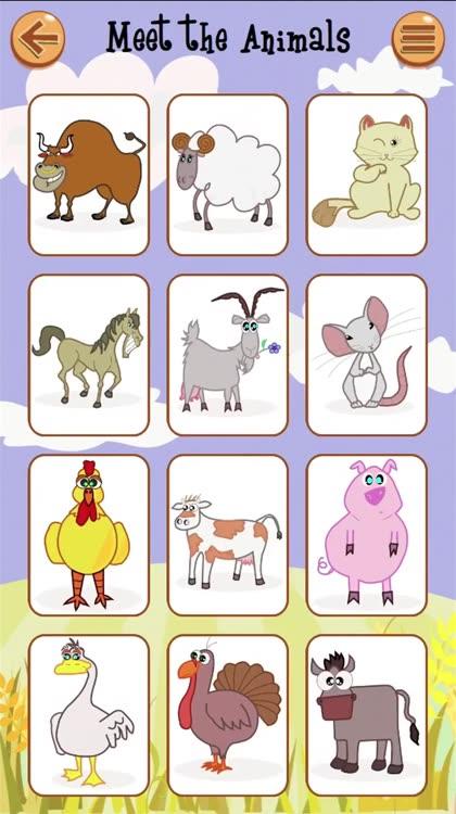 Farm Animals Matching Game – English Learning App