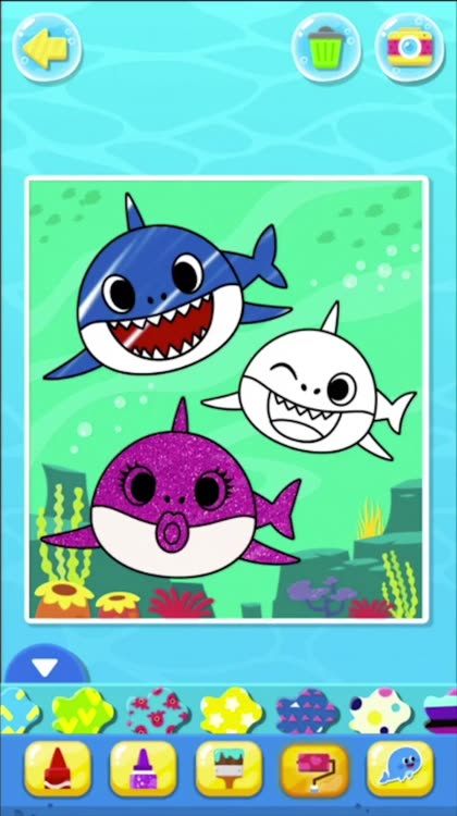 Baby Shark Coloring Book By Smartstudy