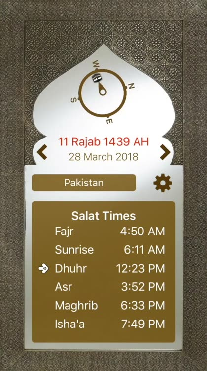 Prayer Times & Qibla Direction