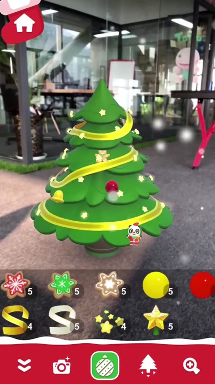 Experience the magic of the season and share your holiday spirit with Dr. Panda AR Christmas Tree!