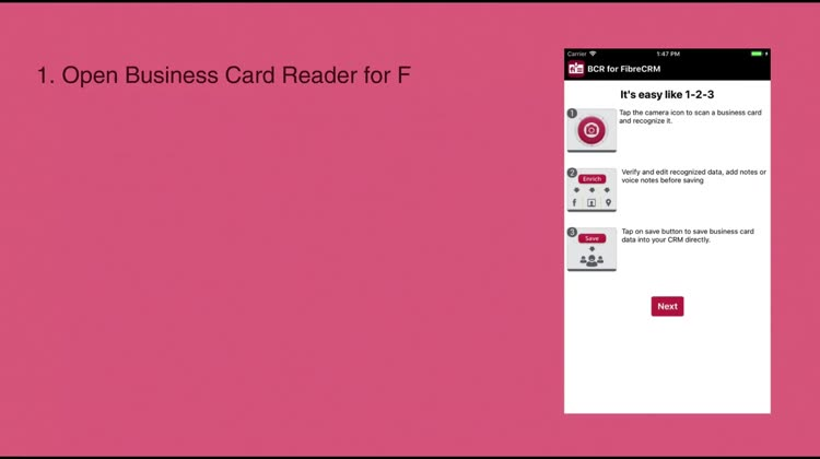 Biz Card Reader For Fibrecrm By Magneticone