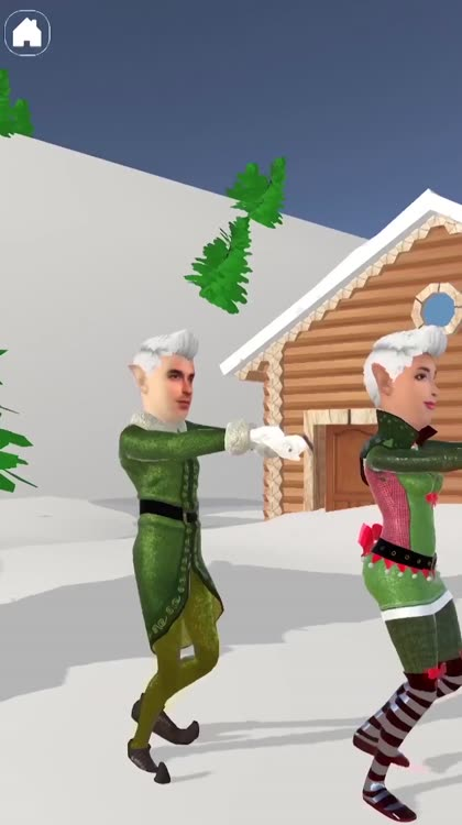 Select the best dance theme and get ready to do the traditional elf dance. Bring joy and live the Christmas spirit.