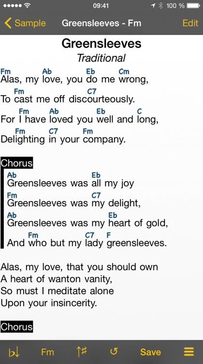 Songbook Chordpro By Linkesoft Gmbh