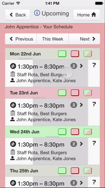 Rotaville Work Rota App By Jason Lee Limited