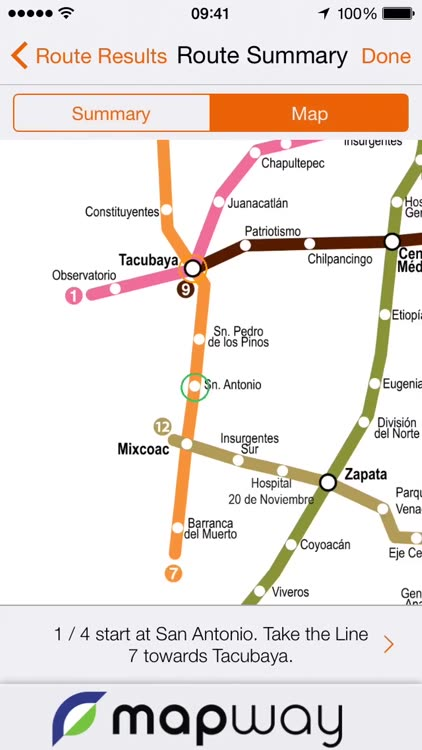 Mexico City Metro Map With Route Planner By Mapway Limited