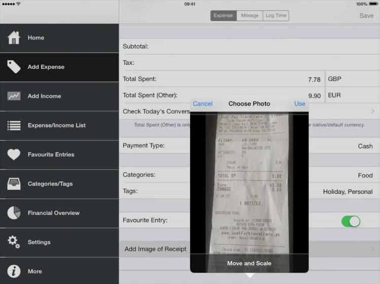simple mileage log app