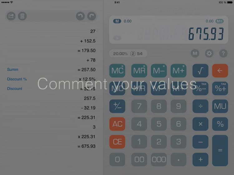 Calculator Total Recalc – Business desktop tool with proper percentage and  tax calculation, MU and rounding by Noos s r o