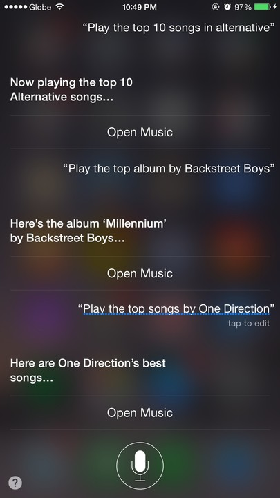 Siri, take me to the top.