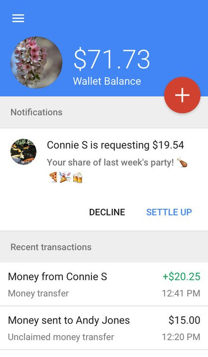 Google Wallet request