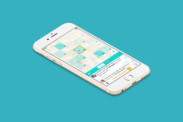 Chat on a grid of message boards with Gabbermap