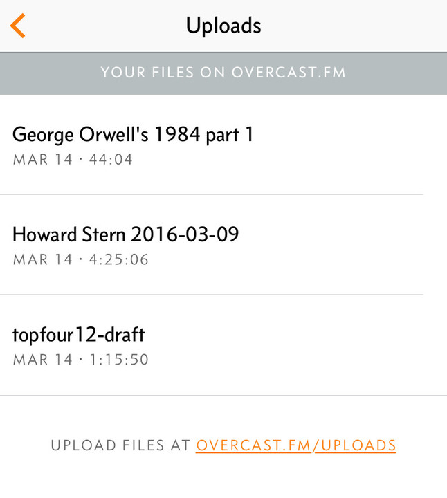 Patrons can now upload and listen to DRM-free audio files.