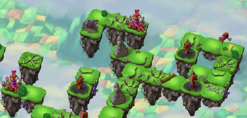 You lose ground quickly in Sky Hop Saga, a new arcade hopper