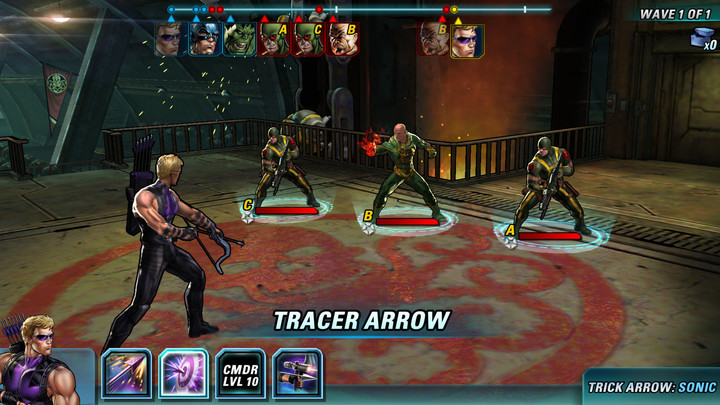 Your team will take on enemies and a lineup of super villains.