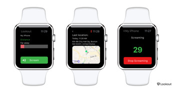 Lookout's new Apple Watch app helps make finding your iPhone a scream