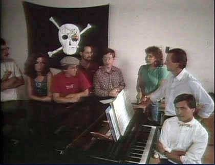 The original Apple Jolly Roger, as posed for Fortune Magazine in 1984