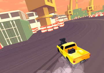 Slide through the curves and collect coins in Thumb Drift