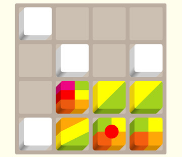 Try to reach the rainbow in Cubes - Addictive Puzzle Game
