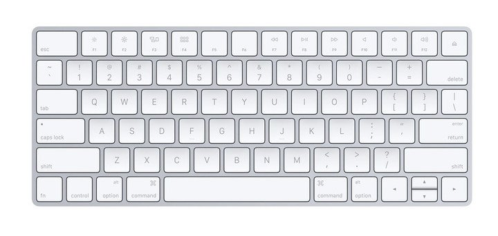 Here is the Apple Magic Keyboard we all know and love.