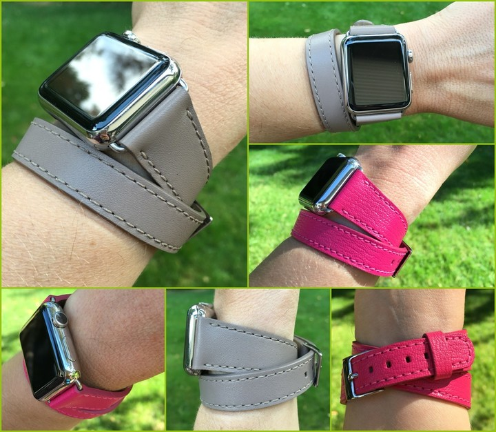 With vivid colors, full-grain leather, and excellent craftsmanship, Lucrin Apple Watch bands are premium products.