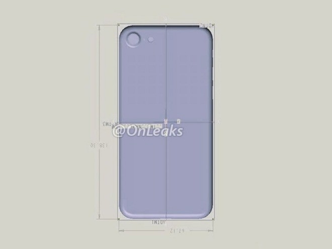 Rumored iPhone 7 back