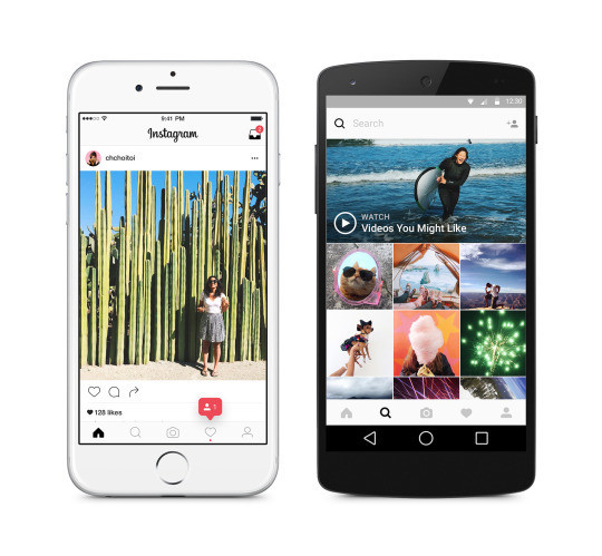 Instagram has recently updated its app with a new look.
