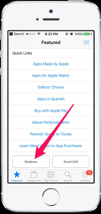 Redeem App Store app