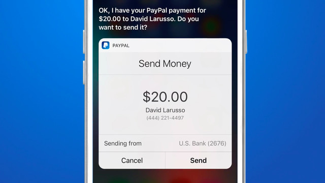You Can Now Tell Siri to Send or Request Money With PayPal